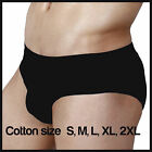 Black Men's Cotton Shorts Underwear Briefs Hipster Undies Size S M L XL XXL