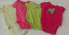 Set if 4 Onsies, Girls 9 months, Carters, Jumping Beans