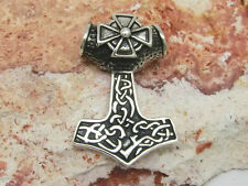Thors Hammer Mjölnir Anhänger 925 Silber mit Eisernes Kreuz E.K. Wikinger Kelten