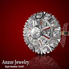 1.50 CWT G-SI1 Diamond Earrings Russian Jewelry 14k Rose Gold Earrings Malinka