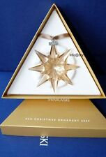 swarovski  Christmas star ornament 2009 golden scs