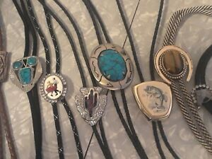 VINTAGE MIXED LOT OF 8 BOLO TIES