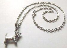 collier 46,5 cm avec pendentif chien basset