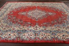 Antique Floral Shahrbaft Hamedan Area Rug Traditional Hand-Knotted Wool 9x11