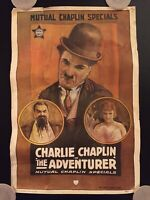 """Vintage 1960s Charlie Chaplin """"The Adventures"""" Mutual Chaplin Specials Poster"""