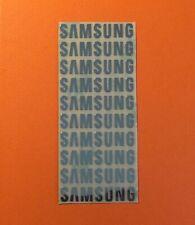 10 pcs SAMSUNG Sticker Logo Label Aufkleber Badge 30mm x 6mm Chrome color