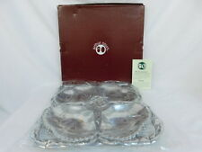 ARTHUR COURT CRAB 4 SECTION PLATTER SERVING TRAY ALUMINUM NEW IN BOX NOS