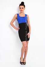 Women's Classic Mini Dress Bodycon Sleeveless Scoop Neck Sizes 8-18 8427