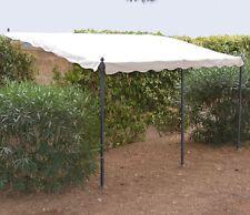 Gazebo Pergola in Metallo mod. Minorca per Fissaggio a Muro Misure: 300X400 Cm