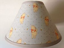 Winnie the Pooh Gray Fabric Nursery Lamp Shade