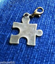 Puzzle Piece Autistic  Bronze Tone Charm Alloy Bookmarks Bracelets Scrapbooking