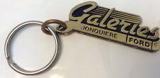 Vintage Car Dealership Promo Keychain LES GALERIES FORD Porte-Cle JONQUIERE P.Q.