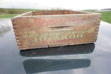 Vintage Remington 22 Short 10000 Hi Score Kleanbore Wood Ammo Crate/Box