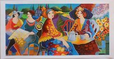 Patricia Govezensky- Relaxed Afternoon in the Garden Serigraph Hand Signed