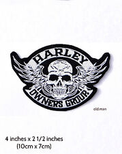 Small Winged Skull HOG Patch (Harley Owners Group)