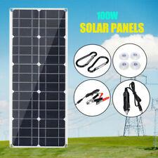 100W Watt Solar Panel Kit 12V Off Grid Battery Flexible Charge For RV Camping
