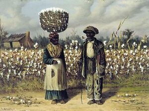 """perfect 36x24 oil painting handpainted on canvas""""Cotton Pickers""""@3736"""