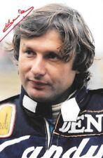 Jean Pierre Jarier SIGNED  F1 Osella Portrait , 1982 Grand Prix Season
