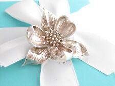 Orchid Flower Brooch Pin Tiffany & Co Silver