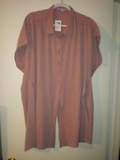 Charlotte Russe button up short sleeve top size large new with tags mauve color