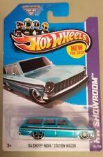 Hot Wheels 64 Chevy Nova Station Wagon Blue/Teal Free US shipping