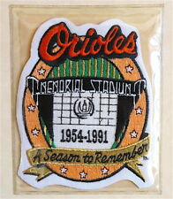 1991 BALTIMORE ORIOLES Willabee & Ward LOST TREASURES BASEBALL TEAM PATCH ~ ONLY
