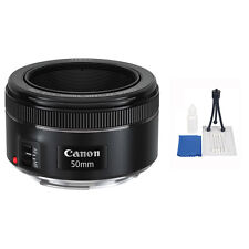 Canon EF 50mm f/1.8 STM Autofocus Lens + 5 Pc Accessory Kit for T6s T6i T5 SL1
