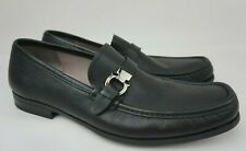 Salvatore Ferragamo Men's Adam Bit Black Leather Loafers Shoes Size 11 E