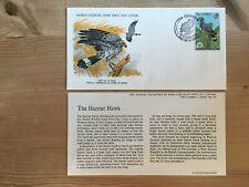 GAMBIA 1978 FDC WWF BIRDS OF PREY HARRIER HAWK ABUKO NATURE RESERVE