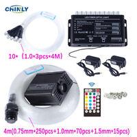Bluetooth Fiber Optic Star Ceiling Meteor Light Kit 16W RGBW 4m Mixed 335pcs