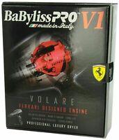 BABFV1 BABYLISS PRO NANO TITANIUM VOLARE V1 HAIR BLOW DRYER FERRARI ENGINE BLACK