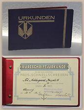 Alte Urkunde 1932 Kurzschrift Schnellschreiben Stenographie Club Chemnitz xz