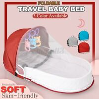 Baby Crib Travel Folding Safe Portable Infant Multifunction Bed Newborn Care