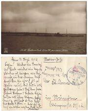 AK S.M. Unterseeboote 21 u. 22 passieren Laboe 1916 Marine-Schiffspost n.München