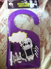 Spooky Halloween Decoration Message Board Door Hanger Skeleton Personalize-able