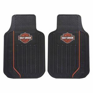Plasticolor 001653R01 Elite Front Floor Mats With Harley Davidson Logo New USA