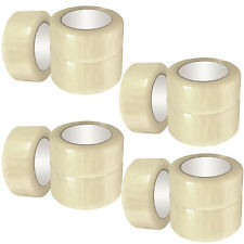 "36 ROLLS OF BUFF CLEAR PACKING PACKAGING PARCEL TAPE 48MM x 66M (2"") SELLOTAPE"