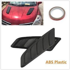 2x Universal Car Bonnet Decorative Air Flow Intake Scoop Vent Cover Hood Fender
