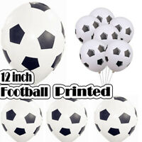 "FOOTBALL PRINTED BALLOONS 12"" INCH SOCCER BALLOONS FOR ALL OCCASION PARTY FUN UK"