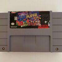 Super Nintendo SNES Cartridge Tetris & Dr. Mario Authentic Original Cartridge