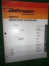 JOHNSON 1977 175HP & 200HP MARINE OUTBOARD ENGINE SERVICE MANUAL TXL TL