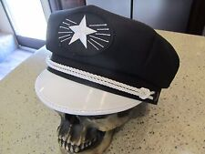 VINTAGE ELVIS STYLE CAPTAIN'S STARBURST HAT / CAP -  LOOK LIKE THE KING!!