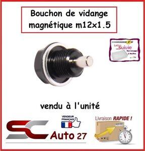 bouchon de vidange magnétique noir auto/moto  M12x1.5