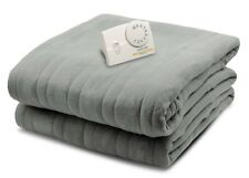 Biddeford QUEEN Soft Comfort Knit Fleece Electric Heated Blanket Analog - Grey