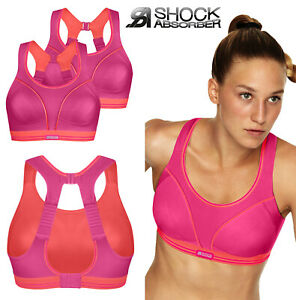 Pack of 2  Size 34A  Shock Absorber Ultimate Run Sports Bra Pink Coral