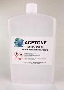 Pure Acetone Premium  Quality Nail Polish Remover UV/LED GEL Soak Off 250ML