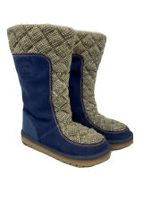 Sorel Women's Blue Suede The Campus Tall Snow Boots NL2075 Sz 6