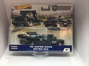 Hot Wheels Car Culture Team Transport '66 Super Nova & Retro Rig