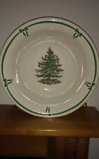 Spode Christmas Tree Large Footed Punch Bowl Made in England Mint Cond