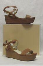 Michael Kors Jalita Charm Luggage Brown Wedge Sandal - SIZE 6.5